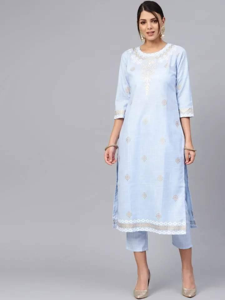 Readymade Sky Blue Coloured Palazzo Suit Set