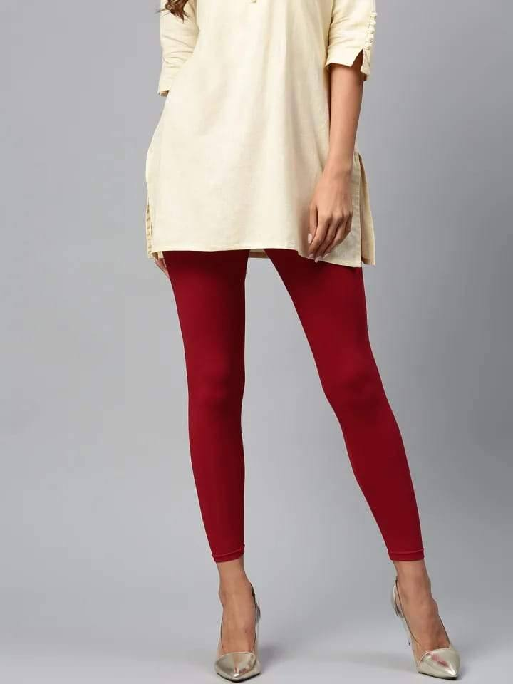 Leggings - Churidar - Maroon - www.riafashions.com