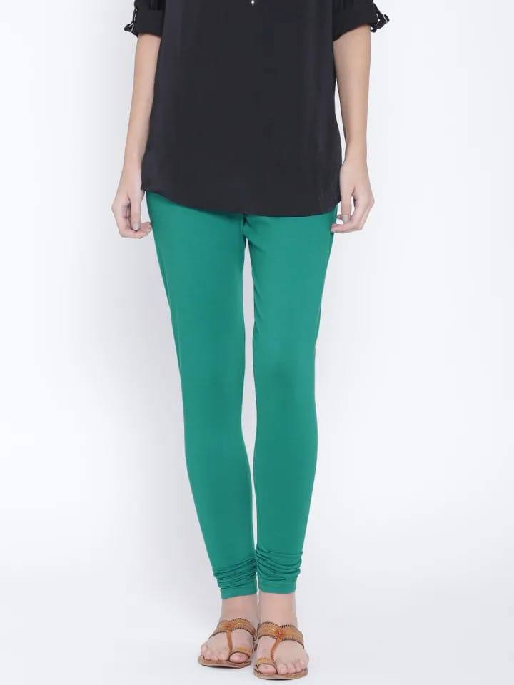 Leggings - Churidar - Peacock Green