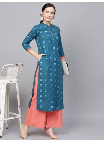 Readymade Blue Color Kurta