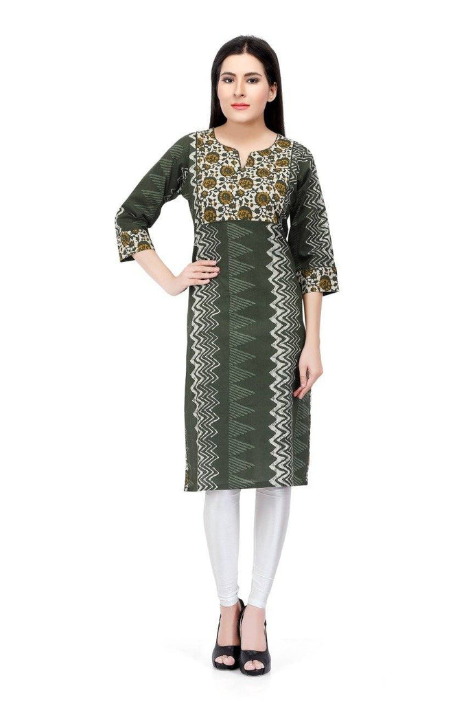 Readymade Green Cotton Kurti