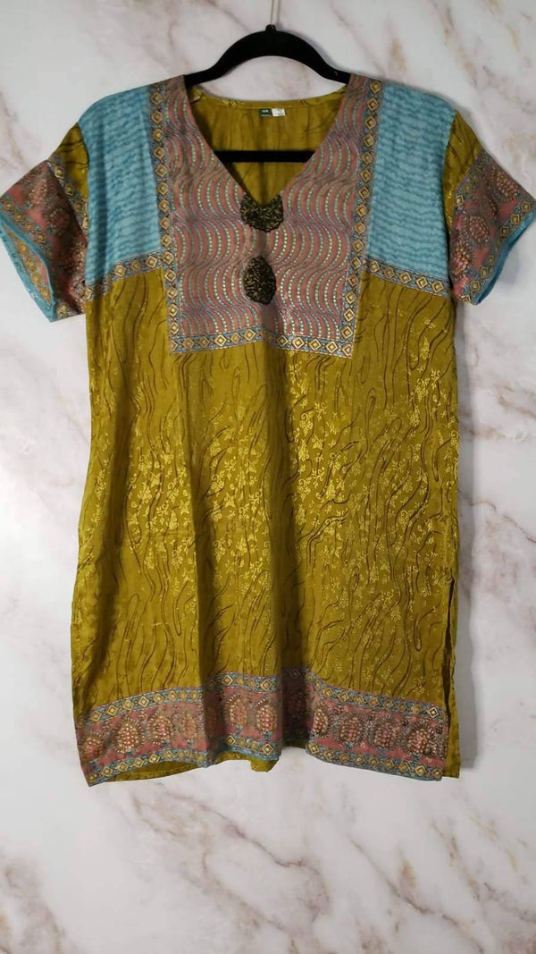 Ready Made Mustard Printed Kurti