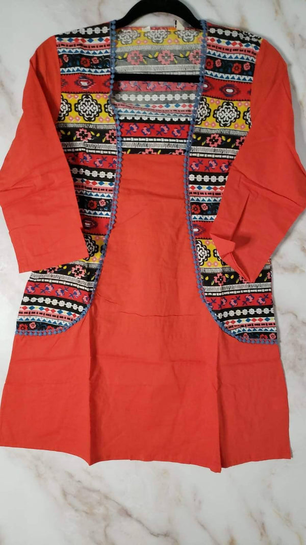 Ready Made Mock Jacket Cotton Kurta