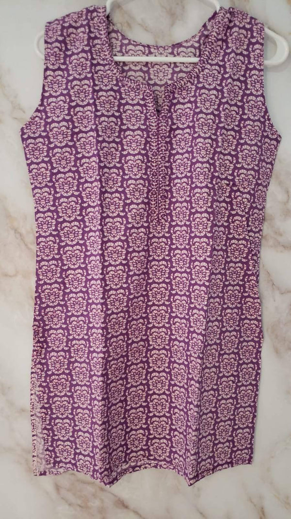 Ready Made Lilac Cotton Kurta