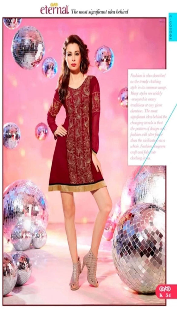 Red Kurti With Full Sleeves