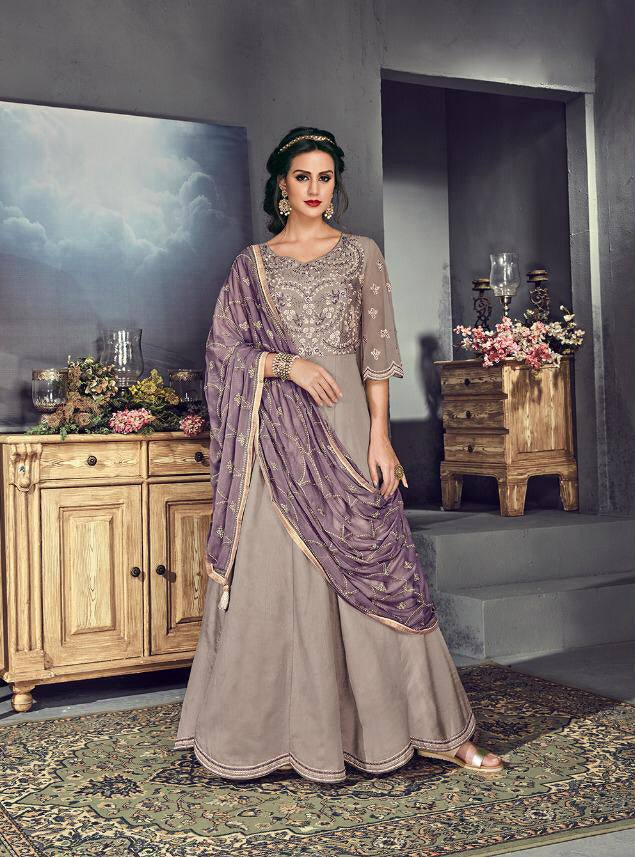 Lavender Colour Make to Order Salwar Suit