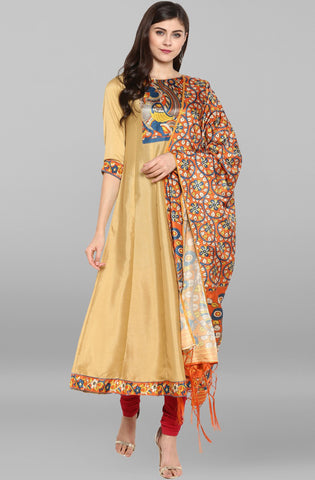 Cream Kurti/Tunic with dupatta