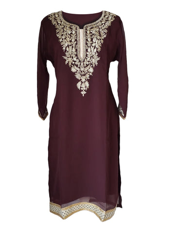 Purple Georgette Kurti/Tunic