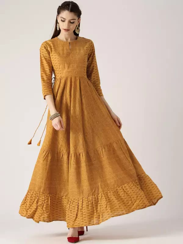 Yellow Make To Order Palazzo Kurta Set