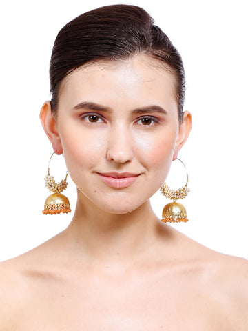 Gold Plated Geometric Drop Earrings