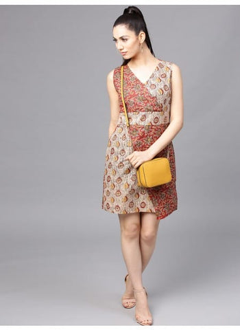 Readymade Kalamkari Short Dress