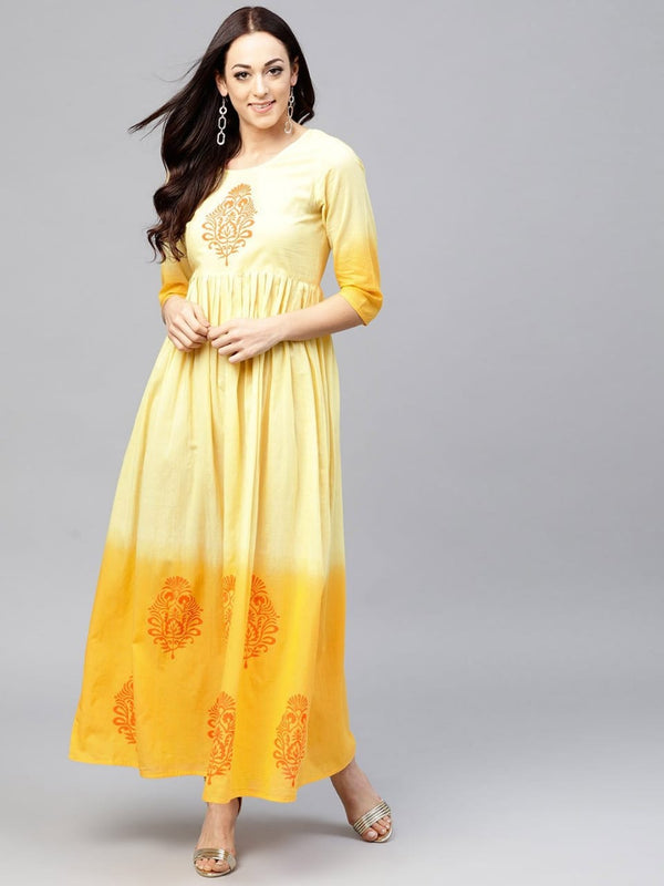 Yellow Make To Order Kurta Dress