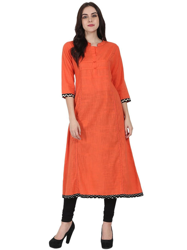 Orange Make to Order Kurti/Maxi Dress