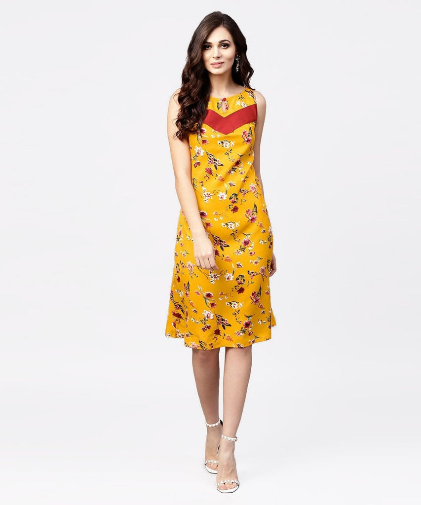 Yellow Printed Make to Order Kurti