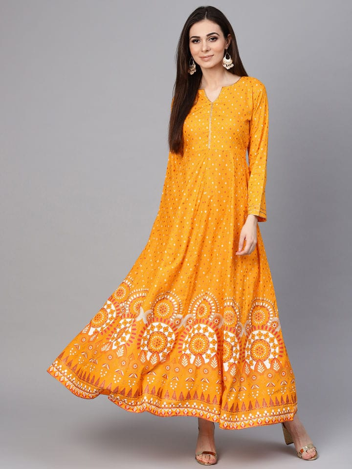 Yellow Colour Make To Order Kurti Dress