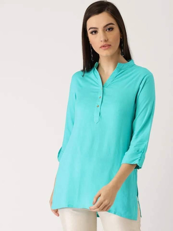 Sky Blue Make To Order Tunic Kurti