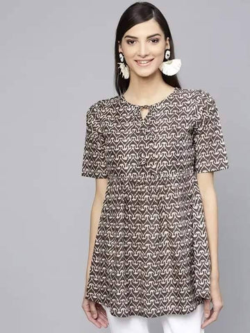Black & White Make To Order Tunic Kurti