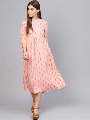 Heavely Misty-Rose Colored Cotton Kurti
