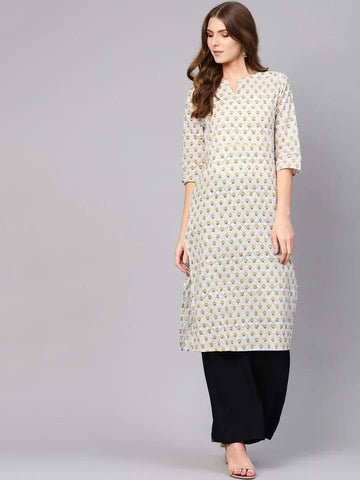 Pleasant White Colored Cotton Kurti