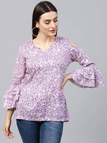 Adorable Mauve Colored Rayon Short Kurti