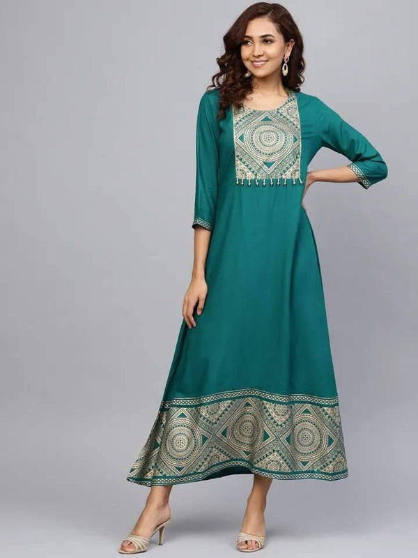 Gleaming Green Colored Cotton Kurta With Jacket
