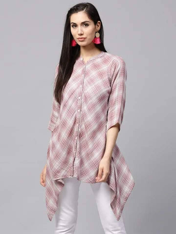 Lovely Mauve Colour Cotton Short Kurti