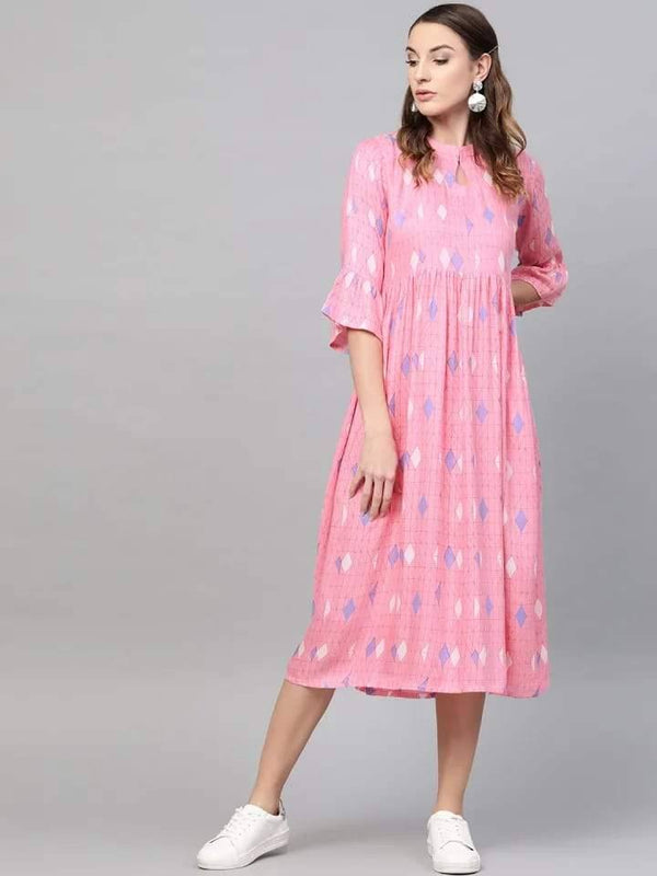 Delicate Pink Colored Cotton Kurti