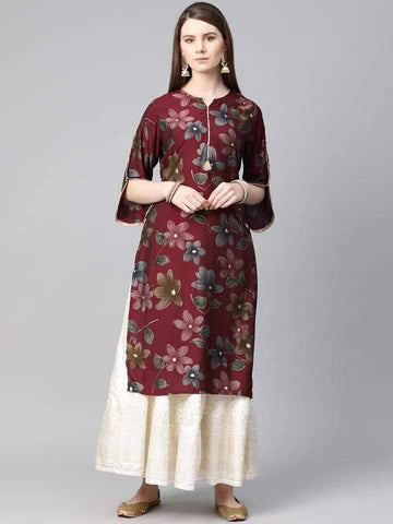Dazzling Maroon Colored Cotton Top