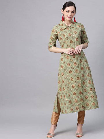 Cream Color Kurti/Tunic