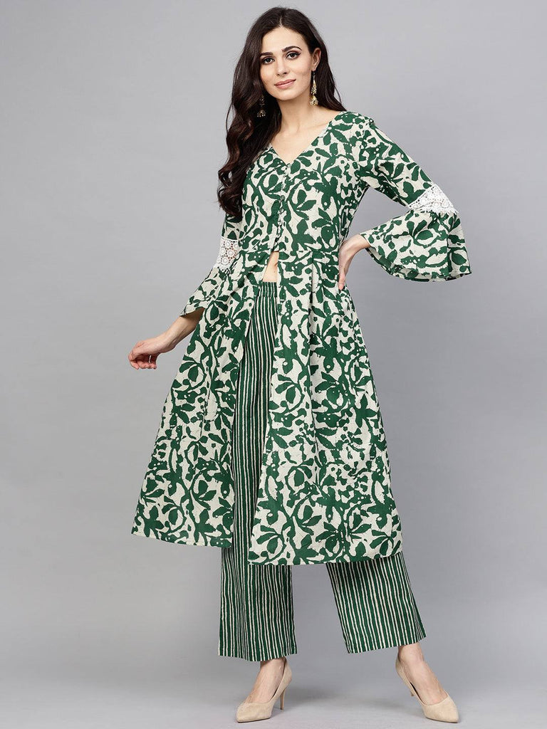 Green Colour Make To Order Kurta Set