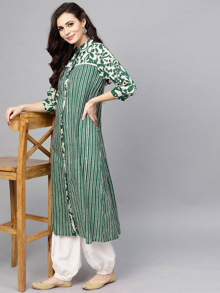 Green Colour Make to Order Kurti