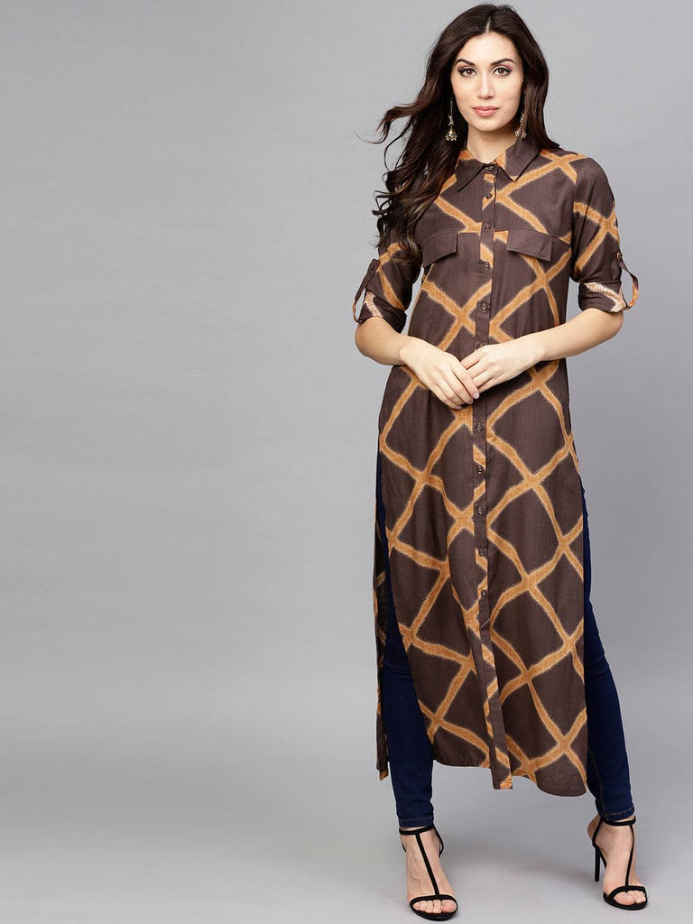 Brown Colour Make to Order Kurti