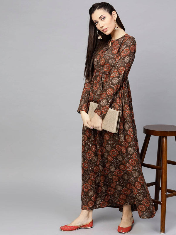 Brown Colour Make to Order Dress