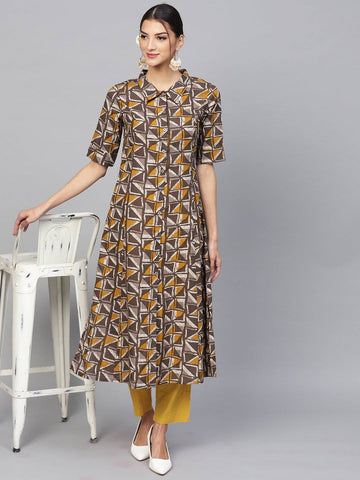 Multi Colour Printed Colour Make To Order Kurti/Tunic