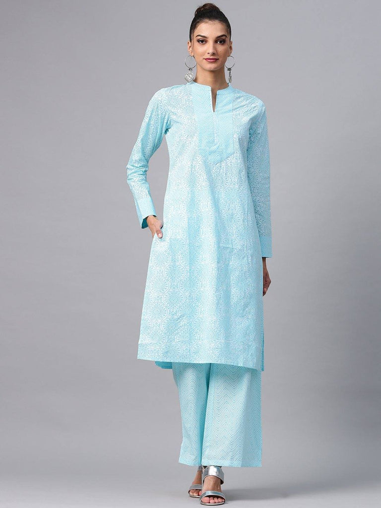 Aqua Colour Make To Order Kurti/Tunic
