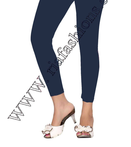 Leggings - Regular - Navy-www.riafashions.com