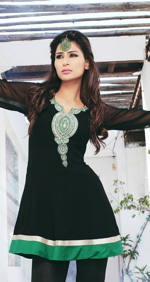 Black Georgette Party Wear Kurti