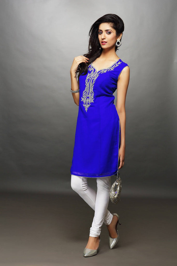 Kurti with 3/4th Sleeves-www.riafashions.com