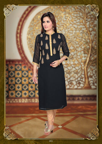 Black Party Wear Tunic-www.riafashions.com