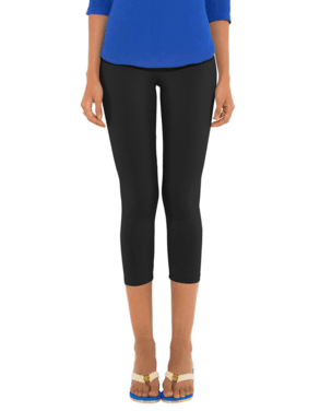 Leggings - 3/4 th - Black-www.riafashions.com