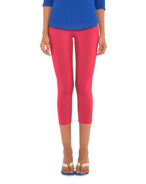 Leggings - 3/4th - Light Rose-www.riafashions.com