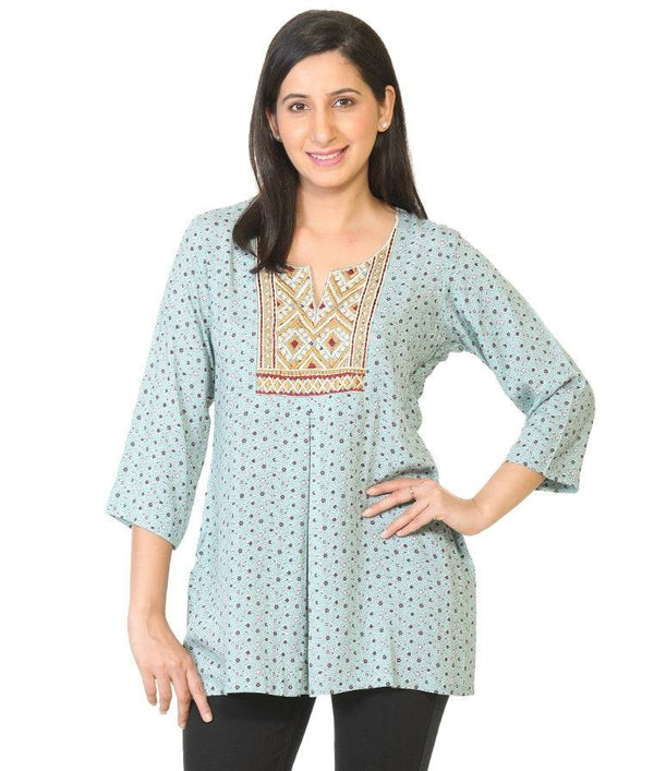 Embroidered Rayon Kurta-www.riafashions.com