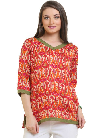 Red Cotton Tunic-www.riafashions.com