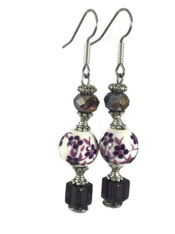 Ceramic Printed Drop Earrings-www.riafashions.com