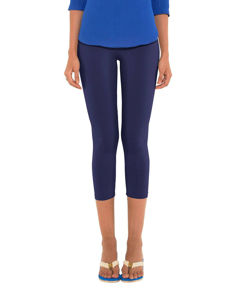 Leggings - 3/4th - Darkblue-www.riafashions.com