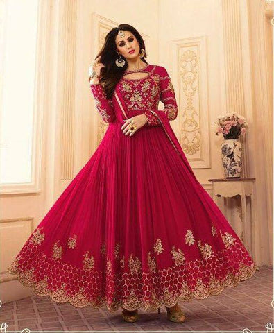 Red Wedding Embroidered Suit-www.riafashions.com