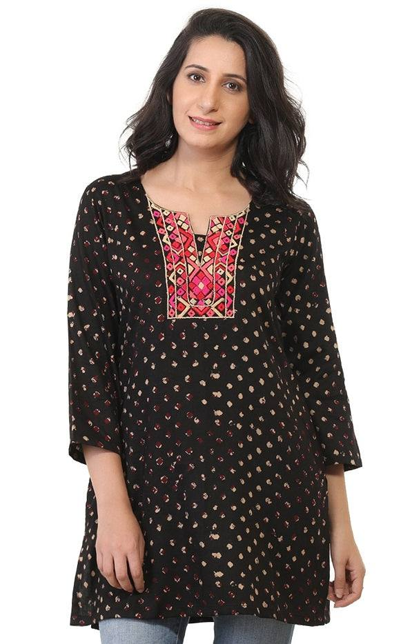 Embroidered Rayon Tunic-www.riafashions.com