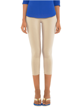 Leggings - 3/4 th - Cream-www.riafashions.com