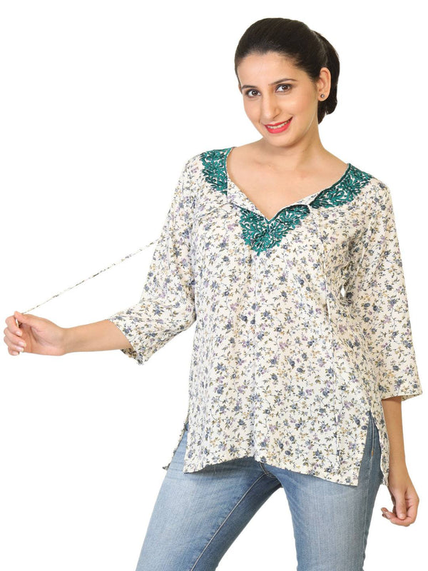 Embroidered Crepe Silk Kurta-www.riafashions.com