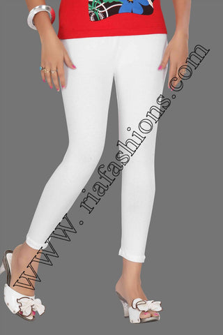 Leggings - Regular - White-www.riafashions.com